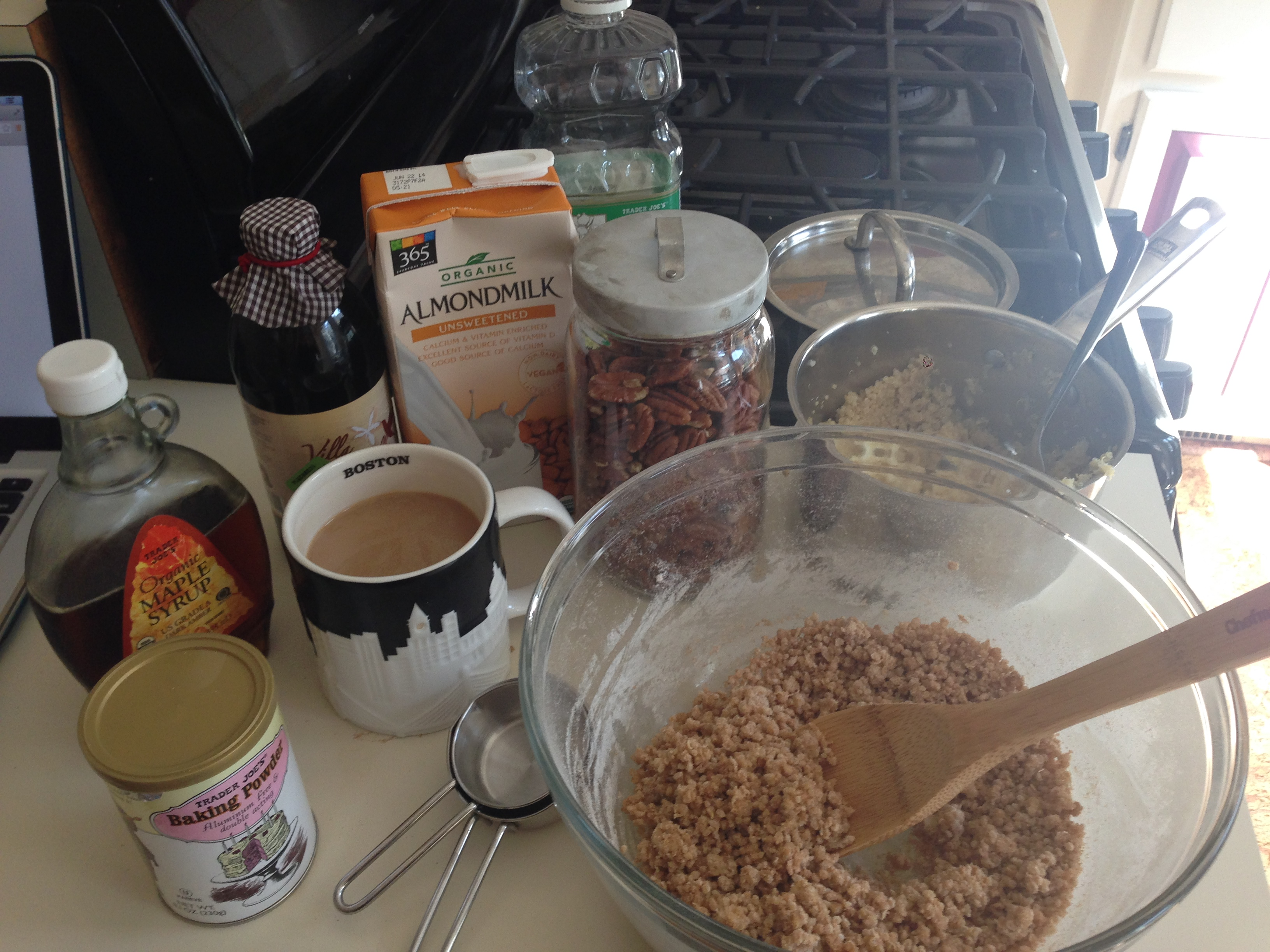 Ingredients for quinoa pancakes
